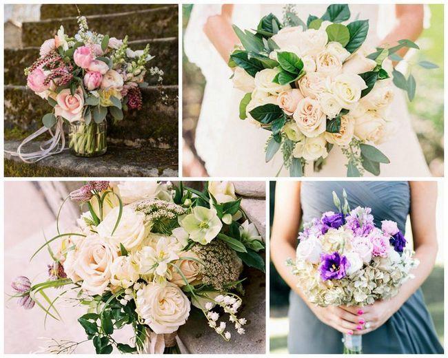 17 Весняних ідей для романтичних букетів нареченої