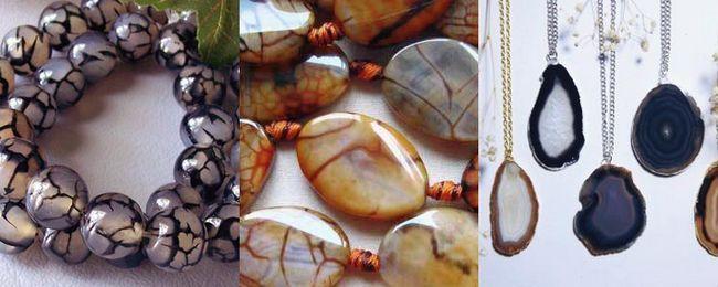 біжутерія з натуральних каменів агат