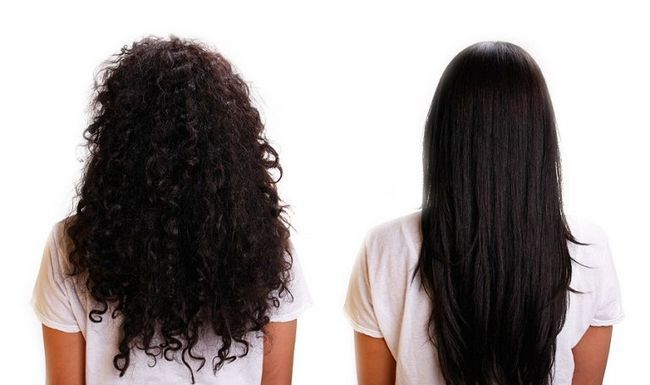 Бразильське вирівнювання волосся: фото
