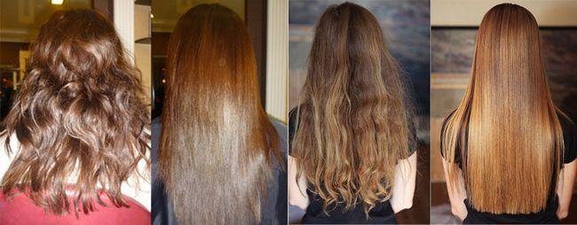 Бразильське вирівнювання волосся на кучерявих і неслухняних волоссі