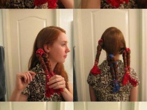 Накрутити волосся за допомогою косинки