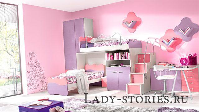 Дизайн для спальні дівчинки