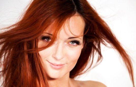 Хна для волосся: червоний відтінок