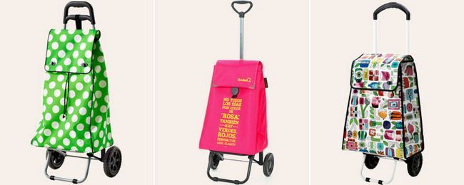 господарська сумка на коліщатках яскраві кольорові