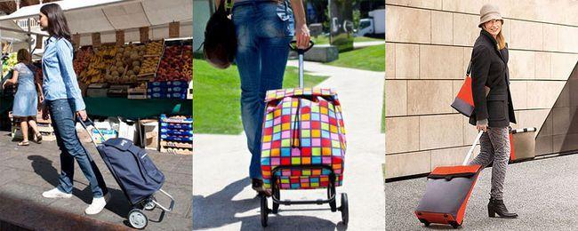 зручна господарська сумка на коліщатках