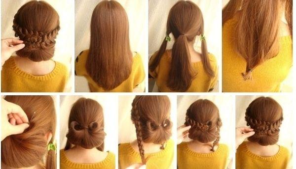 Як зробити зачіску самій собі? Варіанти з пучками, локонами і косами. Зачіски самій собі покроково
