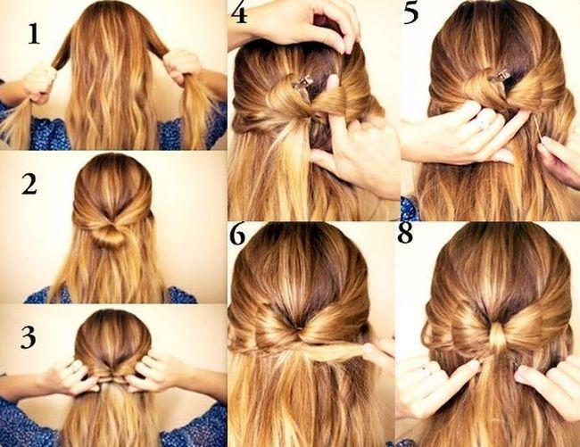 Як зробити зачіску бантик? Зачіска бантик з волосся: інструкція і відео