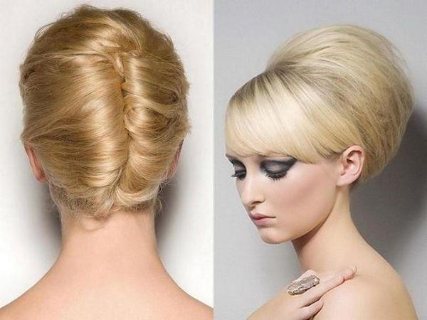 Як зробити високу зачіску на середні і довгі волосся?