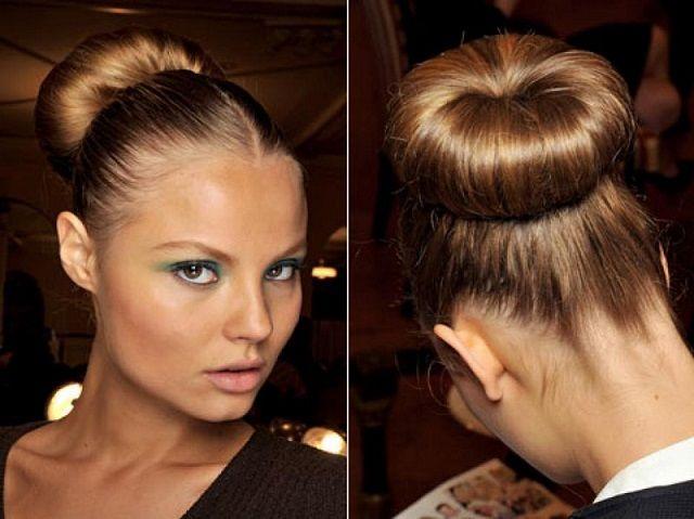 Зачіска пучок на волоссі