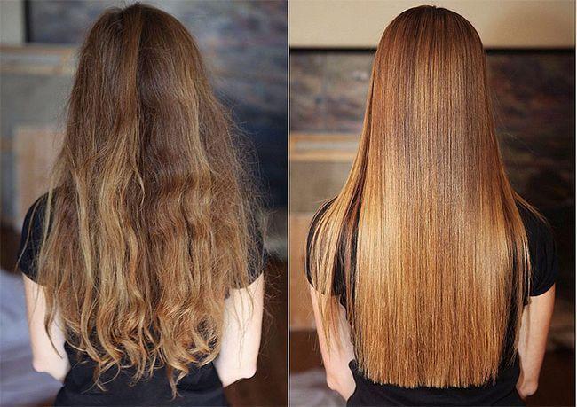 випрямлення волосся кератином