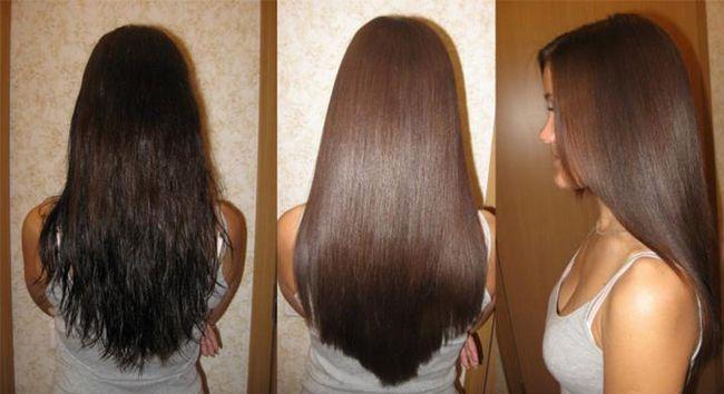 вирівнювання волосся кератином