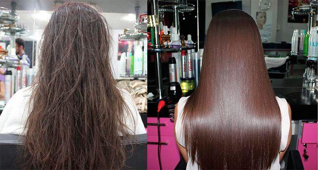 відновлення волосся кератином