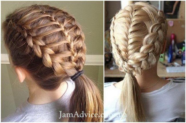 Красиві зачіски в школу на кожен день і в свято