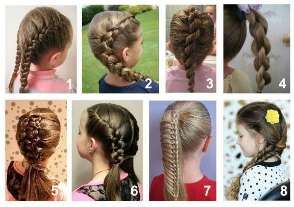 Красиві зачіски в школу: швидкі варіанти. Легкі зачіски в школу: хвостики і коси