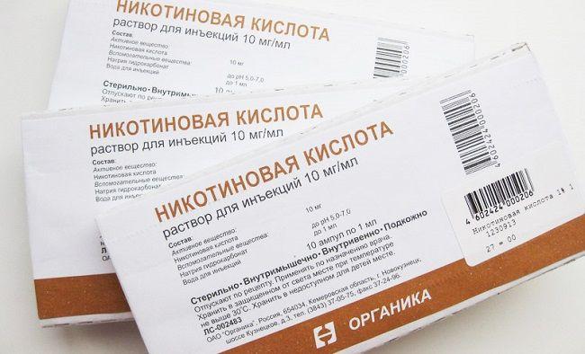 Лікування волосся нікотиновою кислотою