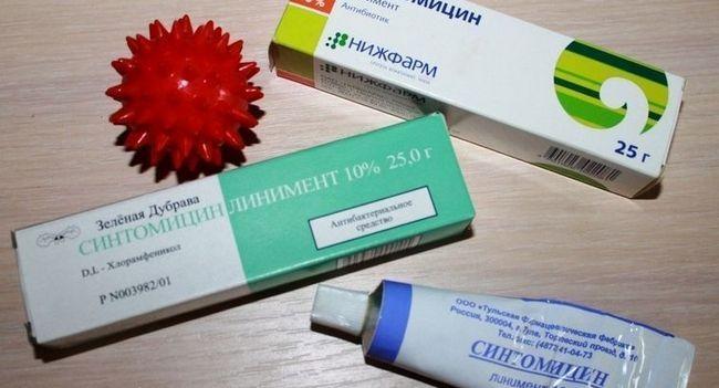 Лікуємо прищі синтомициновой маззю