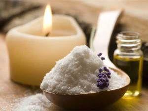 Сольова маска для волосся з ефірним маслом