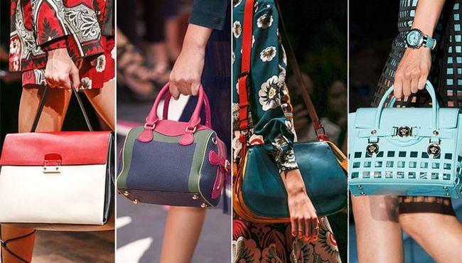 кольорові модні сумки