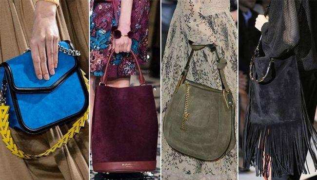 замшеві модні сумки