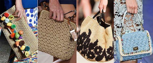 в`язані модні сумки