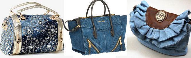 джинсові модні сумки