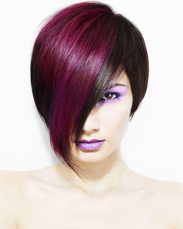 Фарбування волосся в два кольори