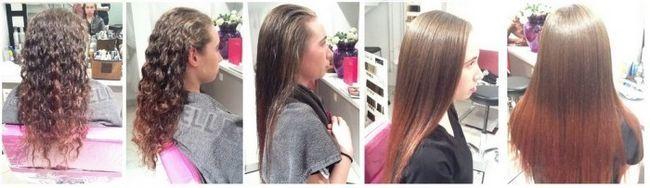 Перманентне випрямлення волосся