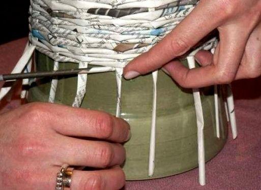 Плетіння з газет для новачків