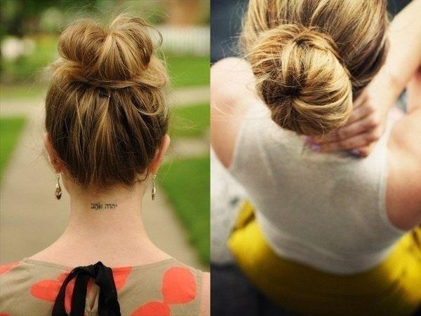 Зачіска з бубликом: як зробити самостійно? Зачіски з бубликом для волосся: 3 варіанти