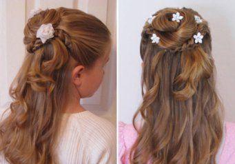 Зачіски для дівчаток на випускний в дитячому саду - довге волосся