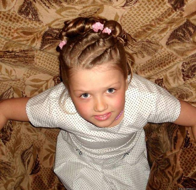 Зачіски на довге волосся для дівчаток. Зачіски на основі коси