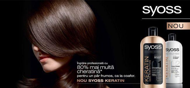 Шампунь з кератином Syoss Keratin hair perfection