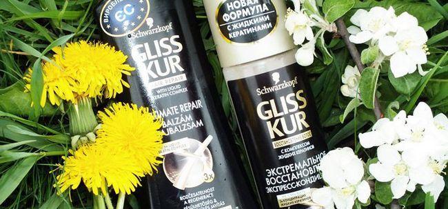 Шампунь з кератином Gliss kur екстремальне відновлення