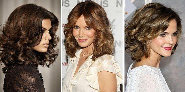 Стрижка на кучеряве волосся середньої довжини + фото