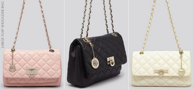 Сумки DKNY large flap shoulder bag