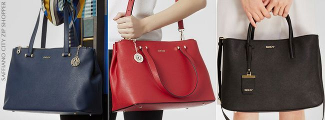 Сумки DKNY saffiano city zip shopper