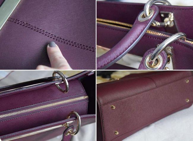 Як відрізнити оригінальні сумки DKNY від підробки за якістю пошиття і фурнітури