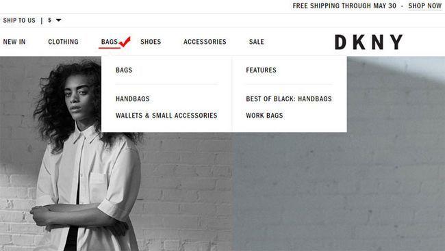 Як купити оригінальну сумку DKNY на офіційному сайті