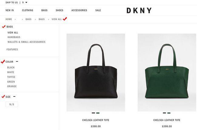 Як вибрати оригінальну сумку DKNY на офіційному сайті