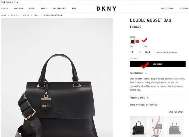 Як замовити оригінальну сумку DKNY на офіційному сайті