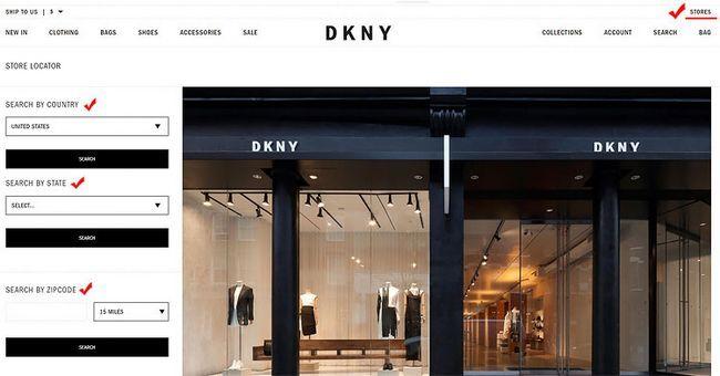 Як знайти офіційний магазин DKNY