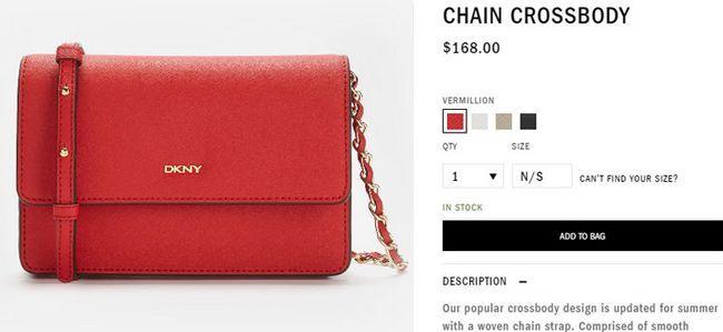 Ціна на сумки DKNY chain crossbody