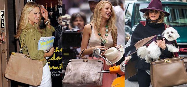 Бежеві сумки Фенди моделі Peekaboo