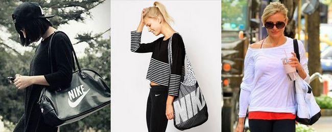 жіночі сумки Найк вуличний стиль