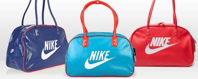 жіночі спортивні сумки Найк сині і червоні