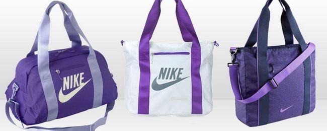сумки Найк фіолетового кольору