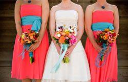 Весілля в кораловому кольорі - ідеї з фото