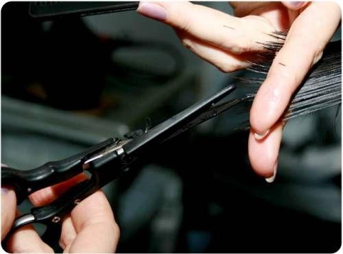 Технологія стрижки гарячими ножицями