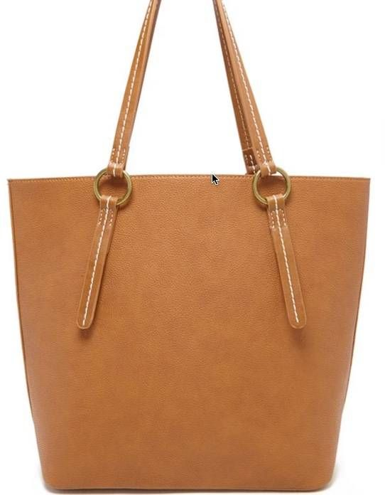 Pebbled Faux Leather Tote in Tan, $ 28