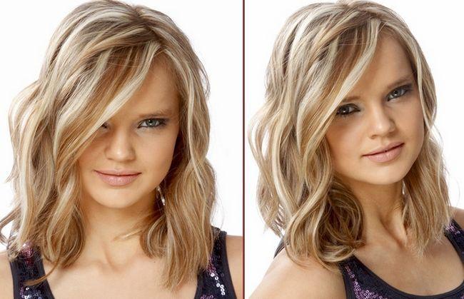 Укладання для середньої довжини волосся